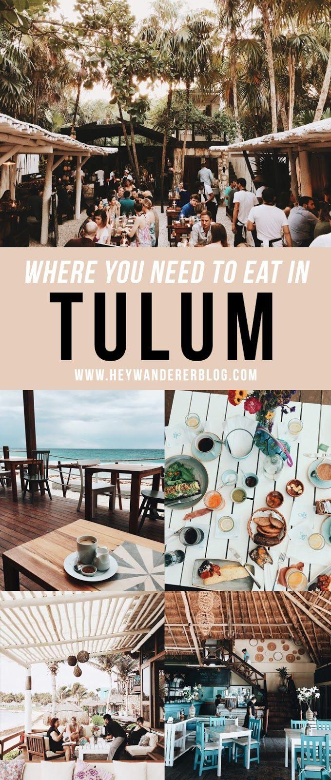 Where You Should Eat In Tulum en 2020 Lugares de