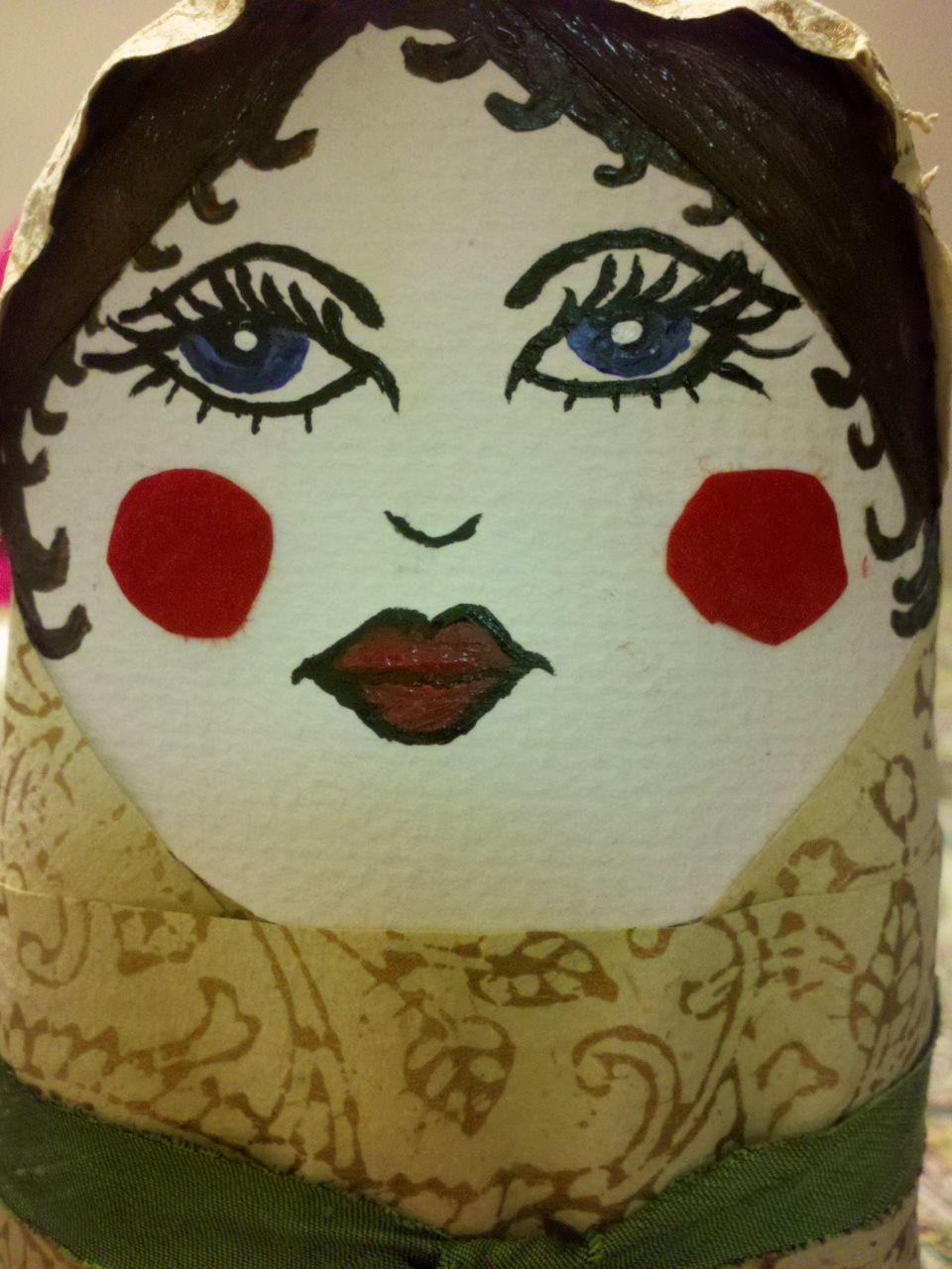 paper mache nesting doll madness