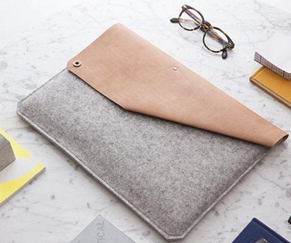 Introducing The Leather Felt Macbook Air Sleeve By Alexej