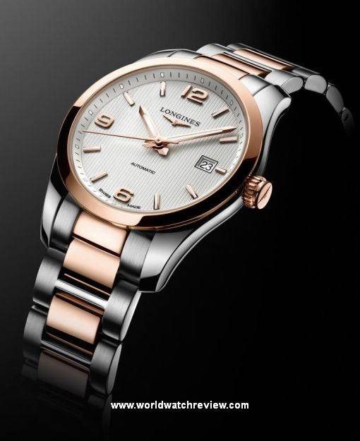 Longines Conquest Classic automatic in steel and rose gold mixt c420795ca34