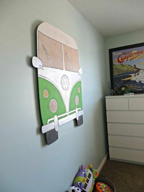 Kinderzimmer wandgestaltung selber machen  bus Kinderzimmer Deko selber machen | Elijah 2. gebbes | Pinterest ...
