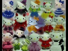 Colección muñecos Amigurumi (Hello Kitty, Flores, ...)