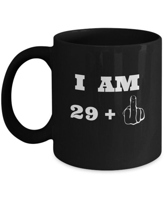 30th Birthday Mug Middle Finger Gifts For Men And Women Funny Present 30 Y