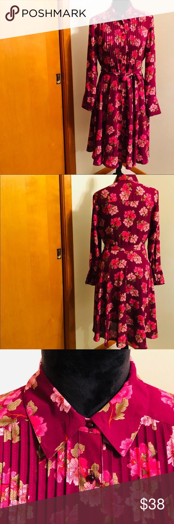 Nanette Lepore Pink Cherry Blossom Dress Cherry Blossom Dress Cherry Blossom Shirt Nanette Lepore Dress