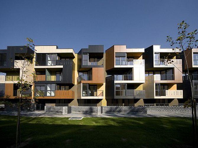 Tetris Exterior Apartment Building Design Arquiteta Arquitetura