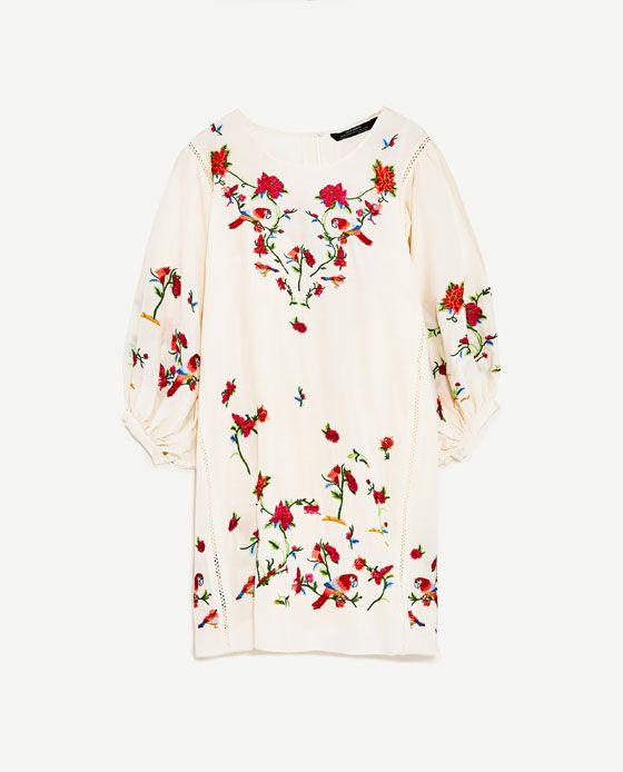 Image 8 Of Floral Embroidered Dress From Zara Kleider Blumen Stickerei Schone Kleidung