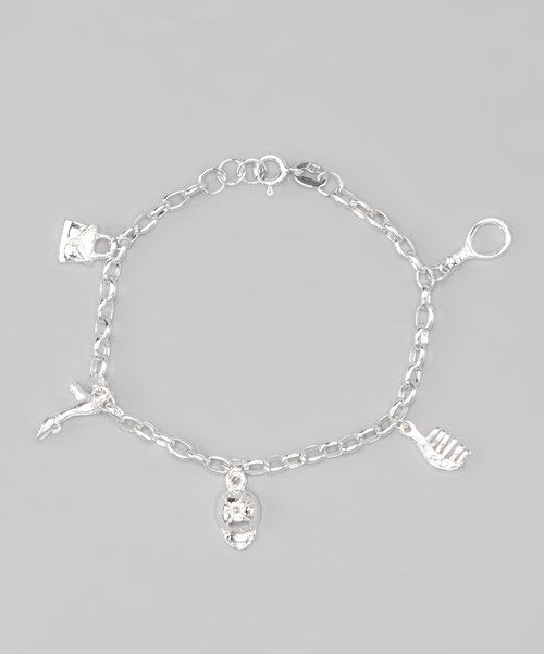 Look at this Sterling Silver Girly Charm Bracelet on #zulily today!