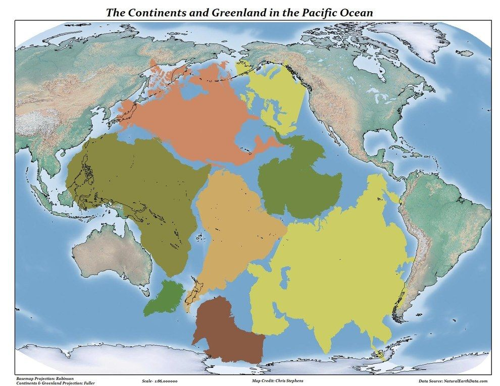 This map shows just how much space there is between land enough to this map shows just how much space there is between land enough to fit all the continents in the pacific ocean gumiabroncs Gallery