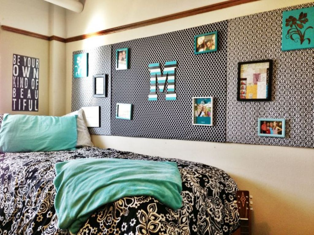 unique wall decor ideas with tan wall color for stylish dorm room