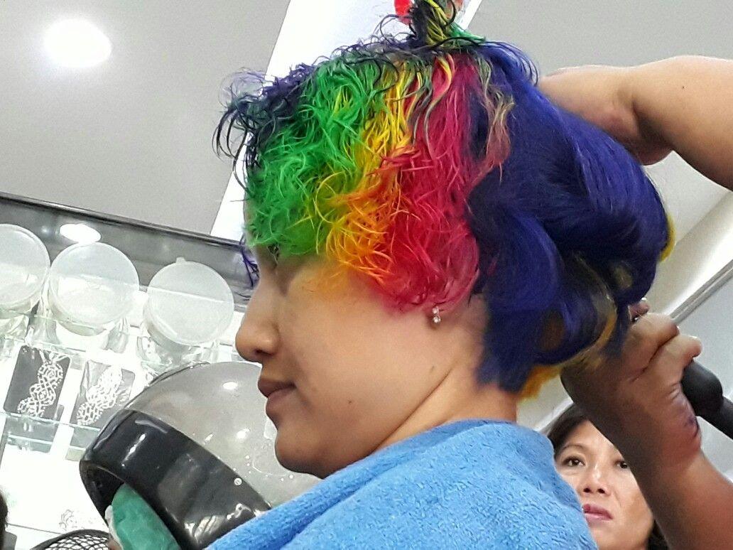 Rainbow colouring pinterest rainbows and hair style