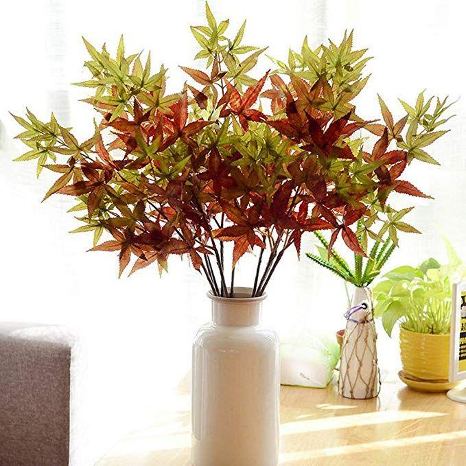Amazonde Fenteer Künstliche Ahorn Blätter Ahornblatt Kunstpflanzen