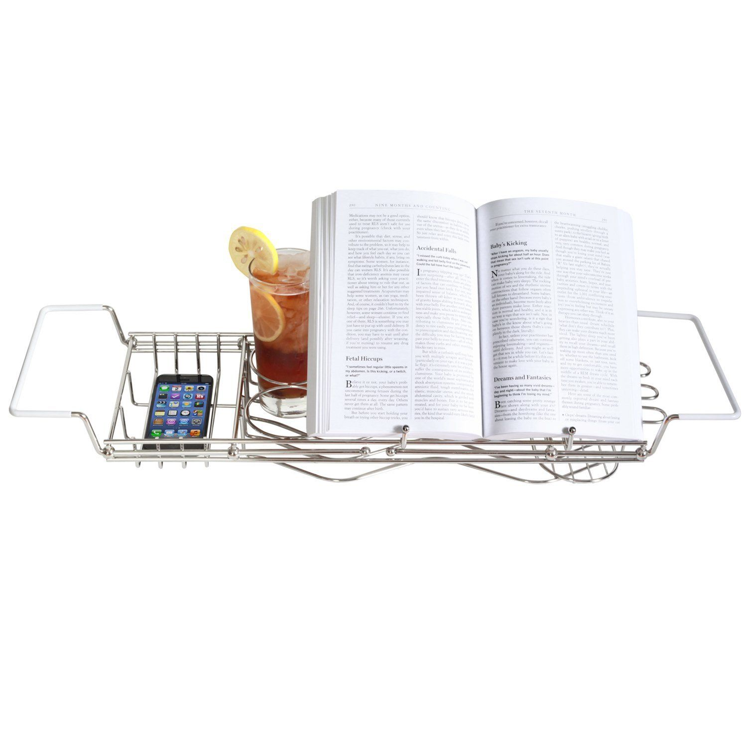 ToiletTree Products Stainless Steel Bathtub Caddy with Extending ...