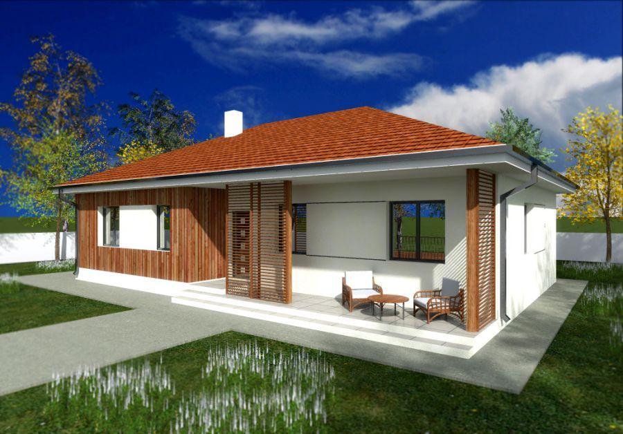 proiecte de case mici fara etaj si terase case proiect