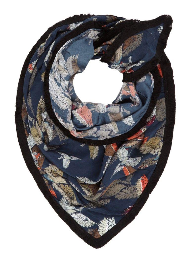 POM Amsterdam Pheasant driehoekige sjaal 245 x 125 cm
