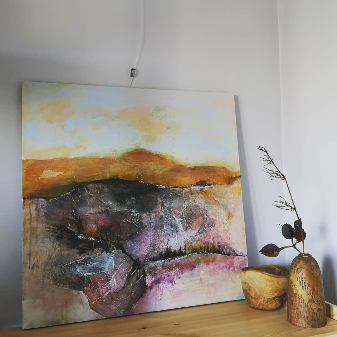 The Big Format Work With Collaged Elements Acrylics Acrylic Inks Collage On Canvas 60 60 Cm Rabota S Elementami Kollazha No Uzhe Na