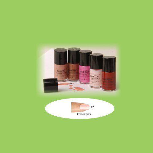 French Pink Nail Polish - Water Based Nail Polish, 0.5 oz,(Suncoat ...