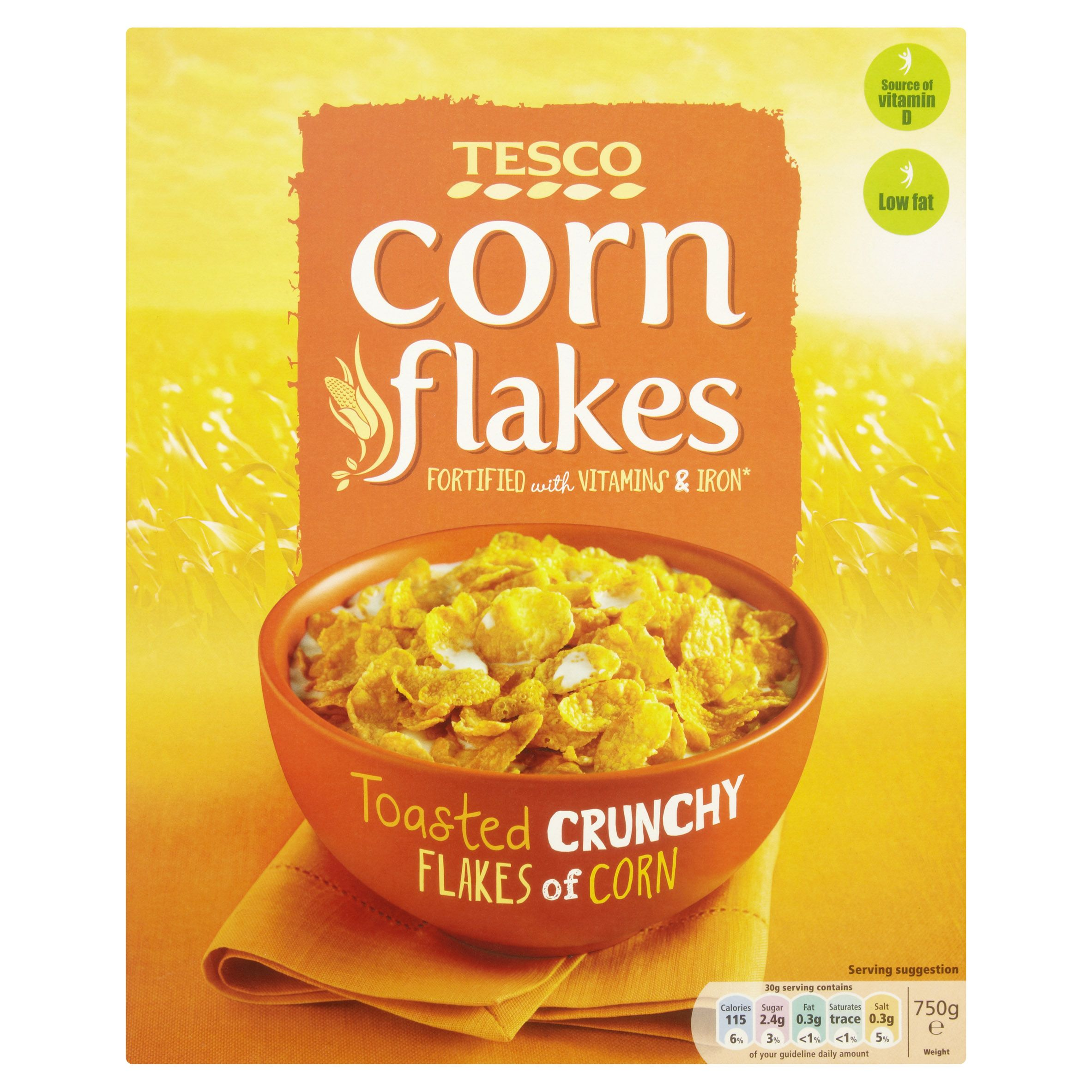 Tesco Corn Flakes Toasted Crunchy Flakes Of Corn Dog Food Recipes Corn Flakes Tesco Groceries