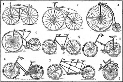 Vintage Bicycles from Larousse Dictionary