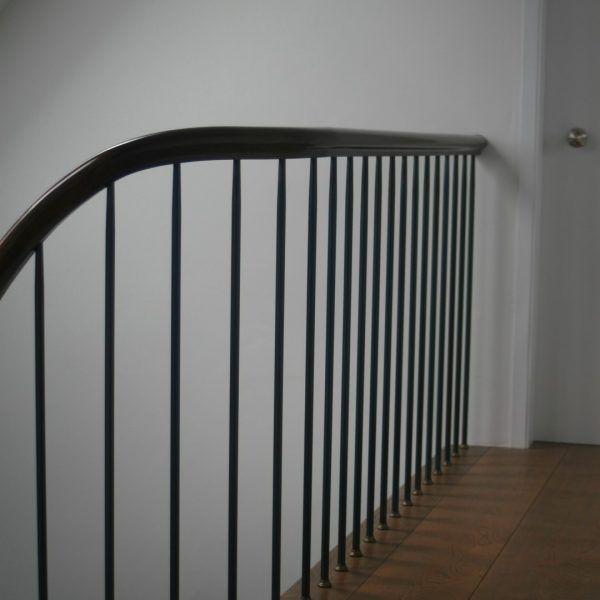 Best Oak Staircase With Mahogany Hand Rails Handrail Design 400 x 300