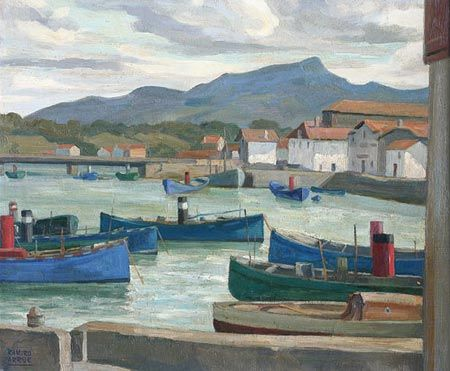 Ramiro arrue 1892 1971 saint jean de luz bateaux - Peinture bayonne ...