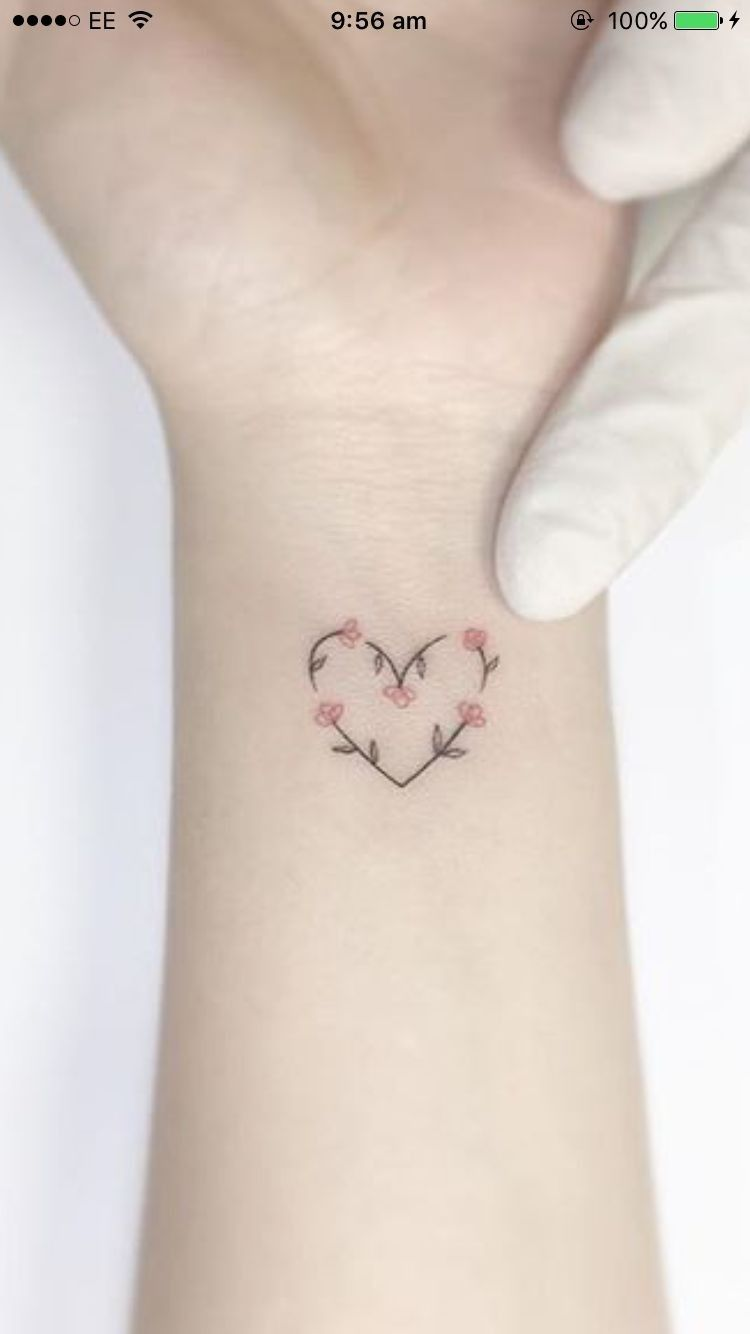 Love And Flowers Intertwined Tattoo Cute Small Girly Tattoos Tattoos For Daughters Spine Tattoos For Women