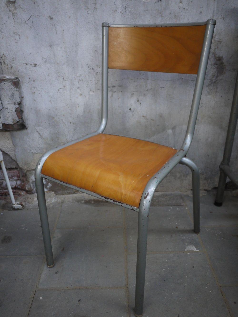 Industriele Vintage Stoelen.Industriele Vintage Stoel Met Metalen Frame En Houten