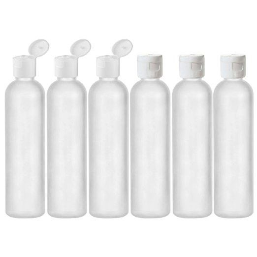 24c9d2e75624 8 Oz Reusable Travel Bottles BPA Free TSA Compliant Made in USA-Pack ...