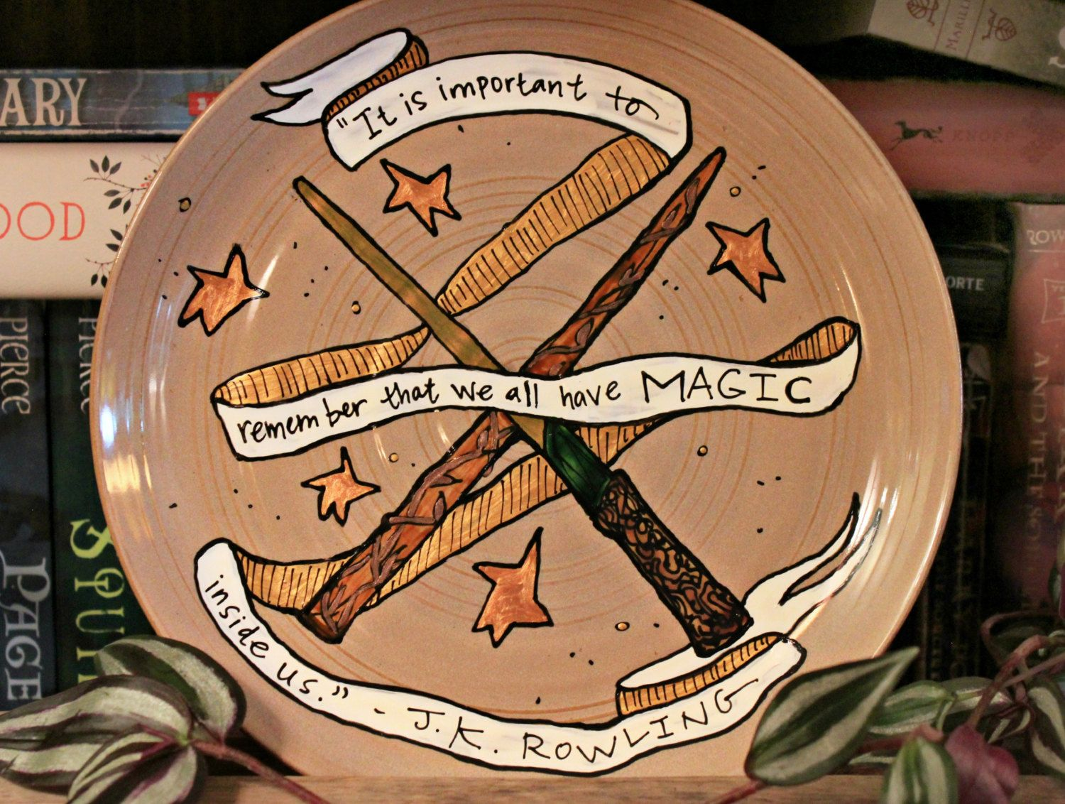 Small Decorative Plates Jk Rowling Decorative Plate We All Have Magic Inside Us Quote