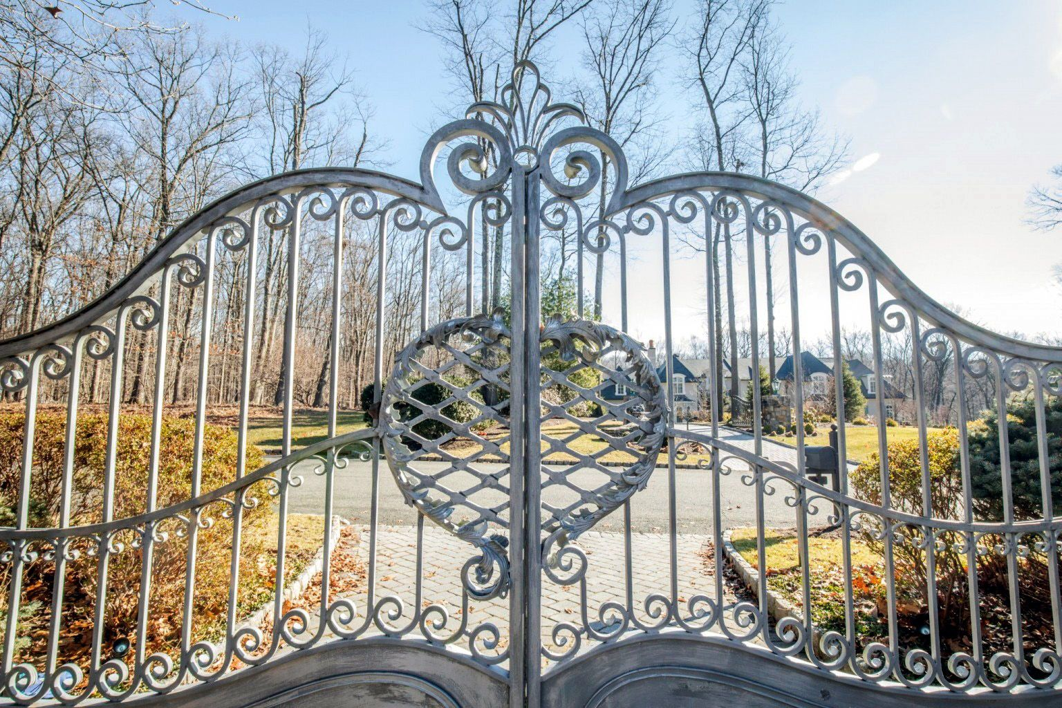 Details In A Wrought Iron Automatic Driveway Gate This Design Has