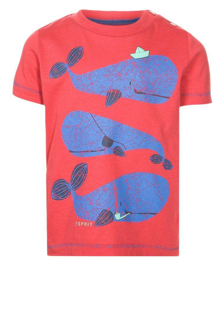Esprit - T-shirt imprimé - rouge
