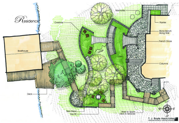 Residential conceptual planting and site plan for Residential site plan