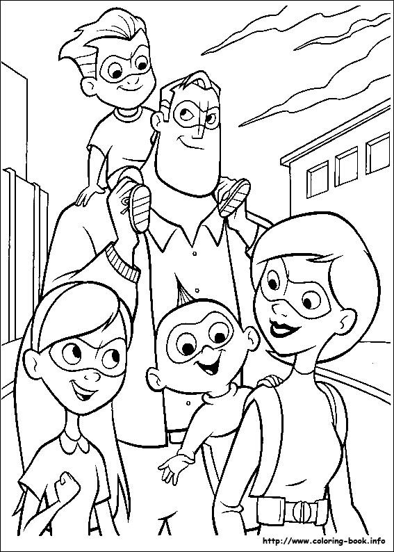 The Incredibles Coloring Picture Family Coloring Pages Disney Coloring Pages Superhero Coloring