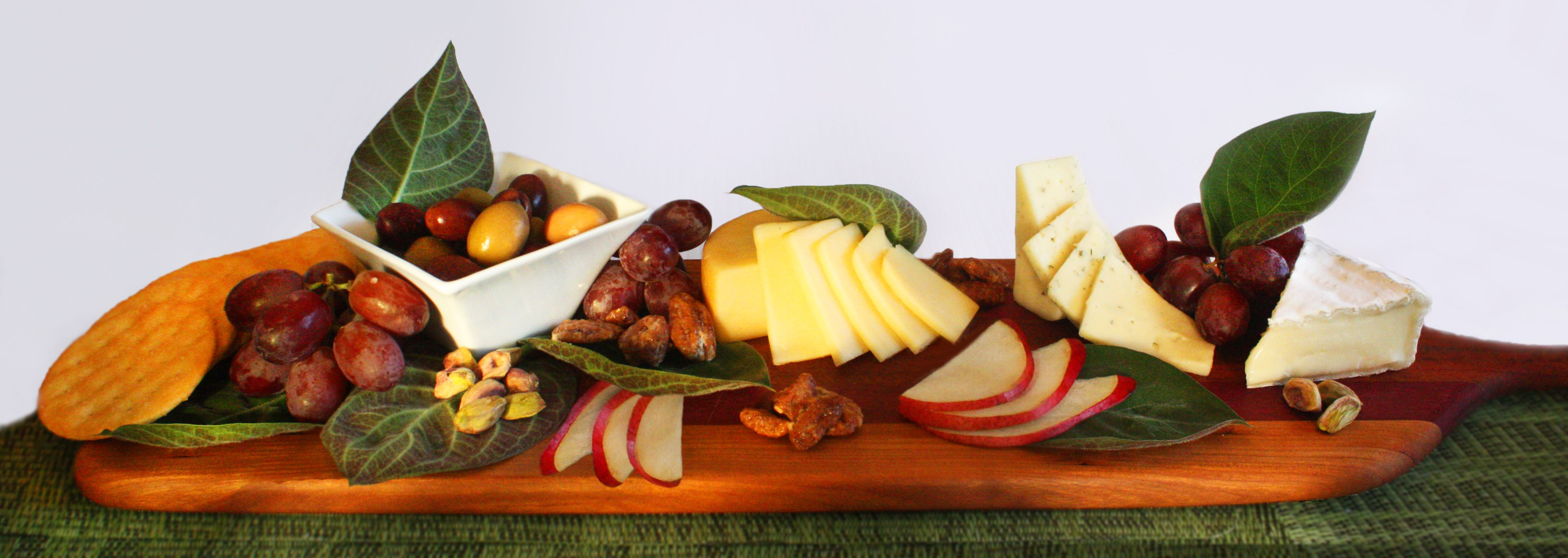 Our Cheese Leaf on a Fruit, Cheese & Nut Plate