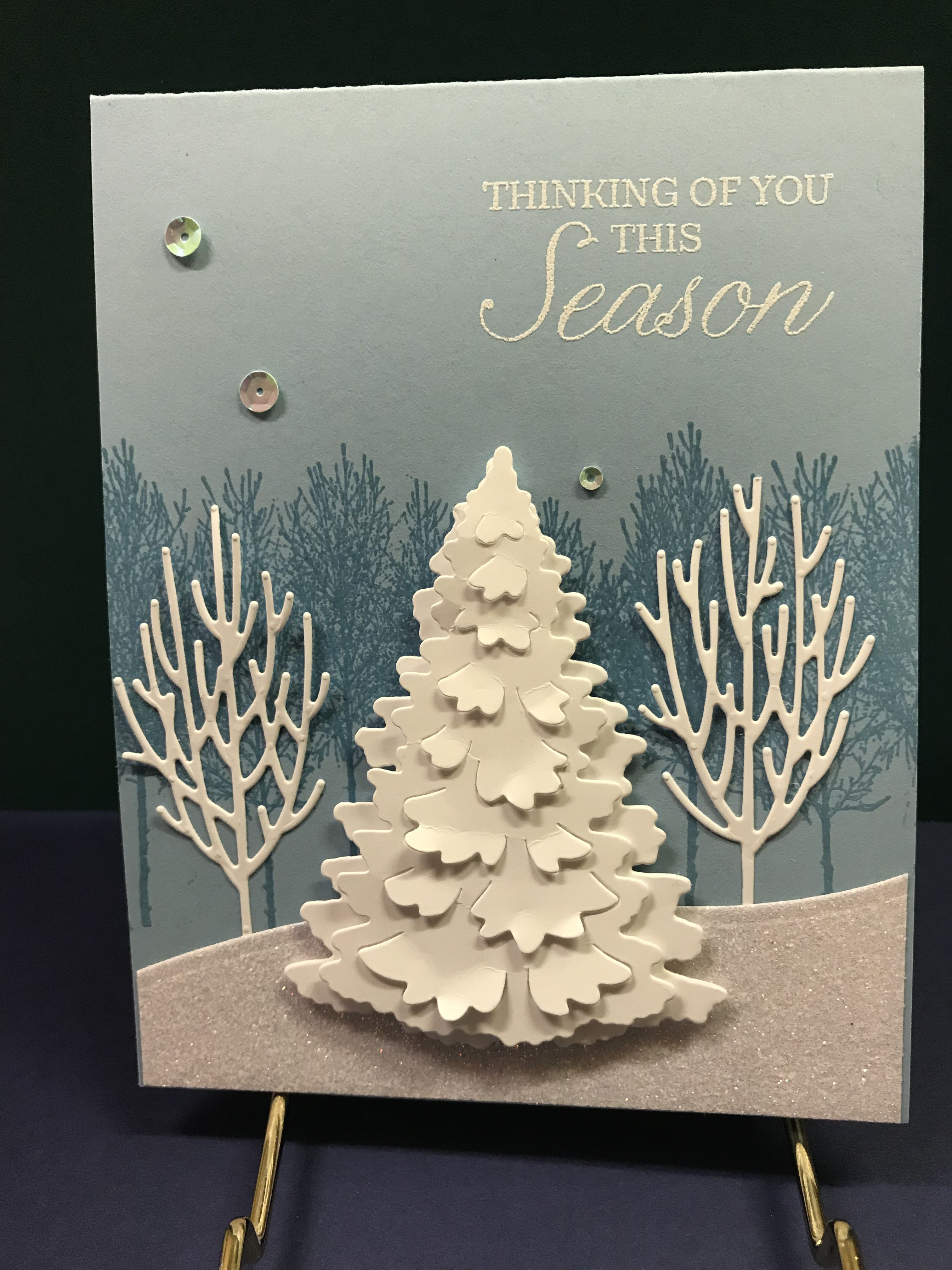 2018 Christmas Winter Woods Christmas card crafts