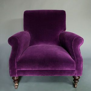Superbe Then This Purple Velvet IKS Armchair Would Fit Right In (with Those Purple  Sinks!