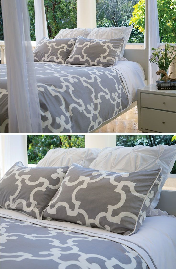 Grey Geometric Bedding from Crane & Canopy. Great site for ...