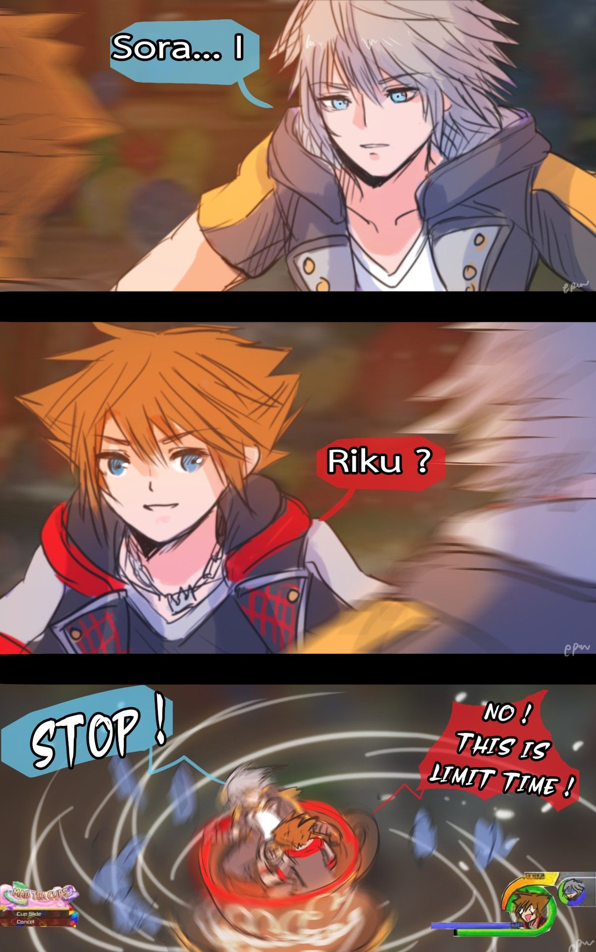 Sora And Riku Mad Tea Party Ride With Images Kingdom Hearts