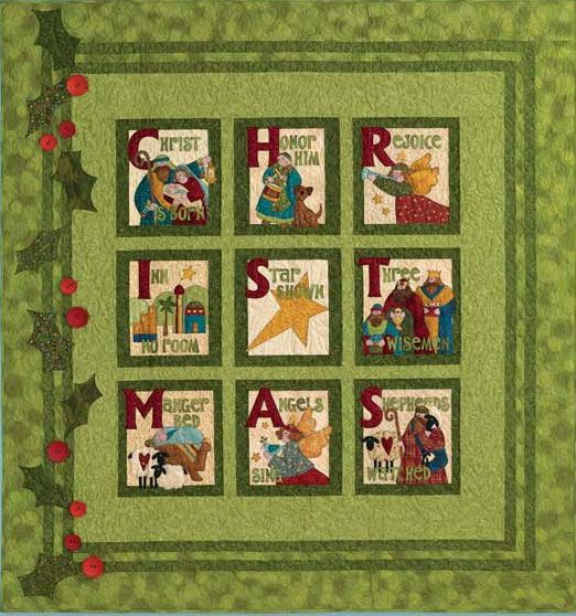 This Christmas book includes quilts, pillows, stitcheries, tea towels, cookie plate carriers, fabric goodie holders, ornaments and more!