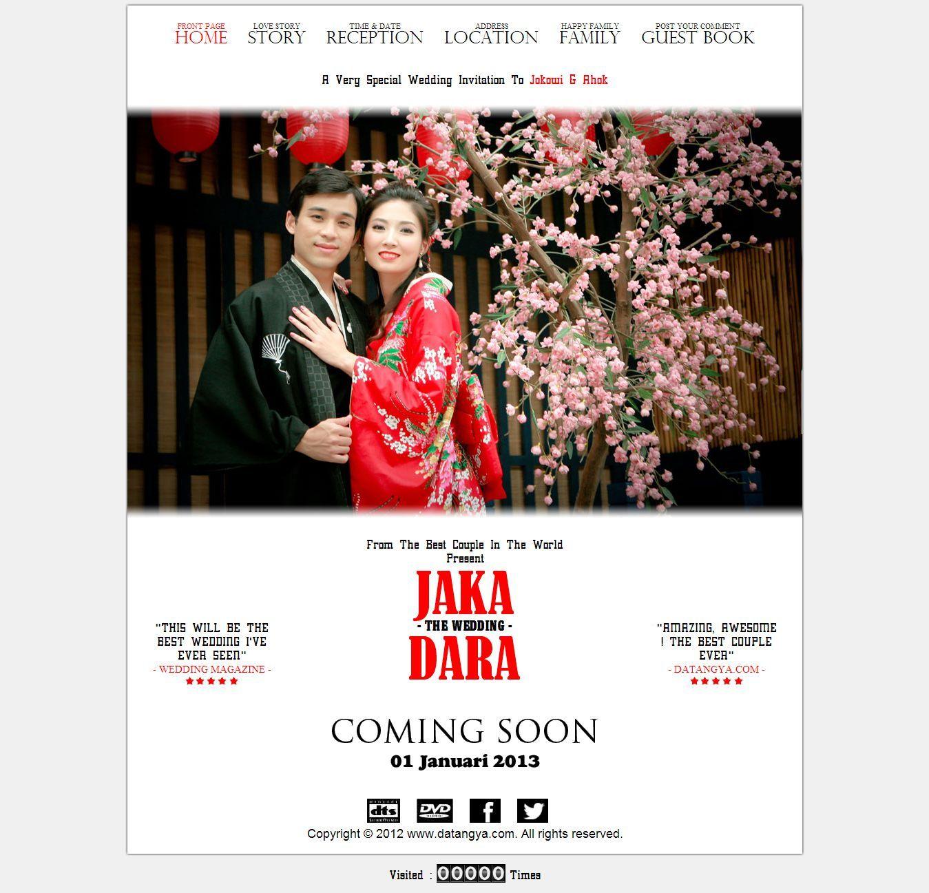 Template Undangan Pernikahan Online Tema Movie Datangya Theme