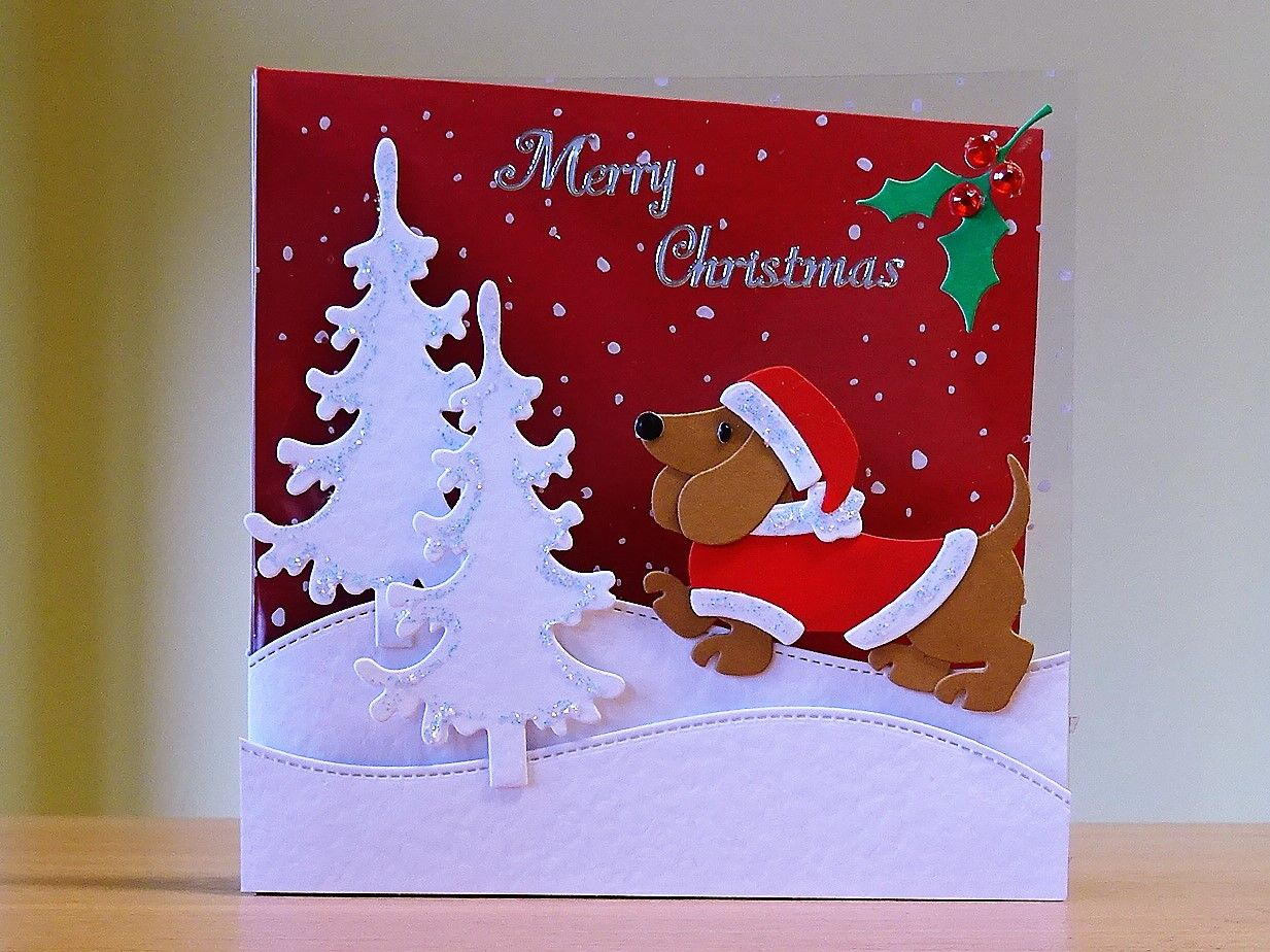Christmas card handmade marianne dachshund die for more of my christmas card handmade marianne dachshund die for more of my cards please visit kristyandbryce Image collections