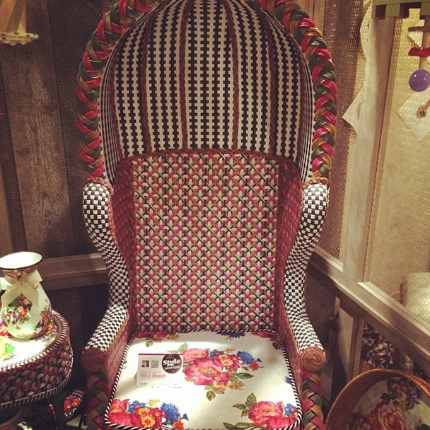 Bold Patterns & Color from MacKenzie-Childs  High Point Spring Market 2014