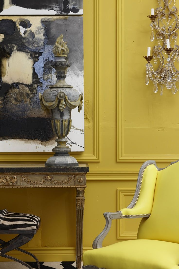 Yellow! Classic interiors, traditional interiors, yellow walls ...