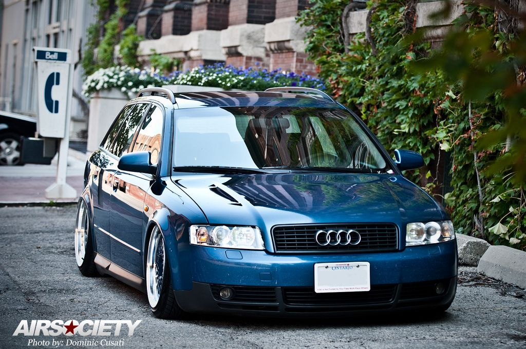 Bagged Blue B6 A4 Audi, Blue bags, Wagon