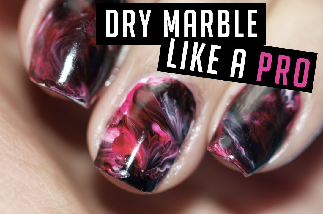 LEARN TO DRY-MARBLE NAIL ART LIKE A PRO (VIDEO TUTORIAL) | nails ...