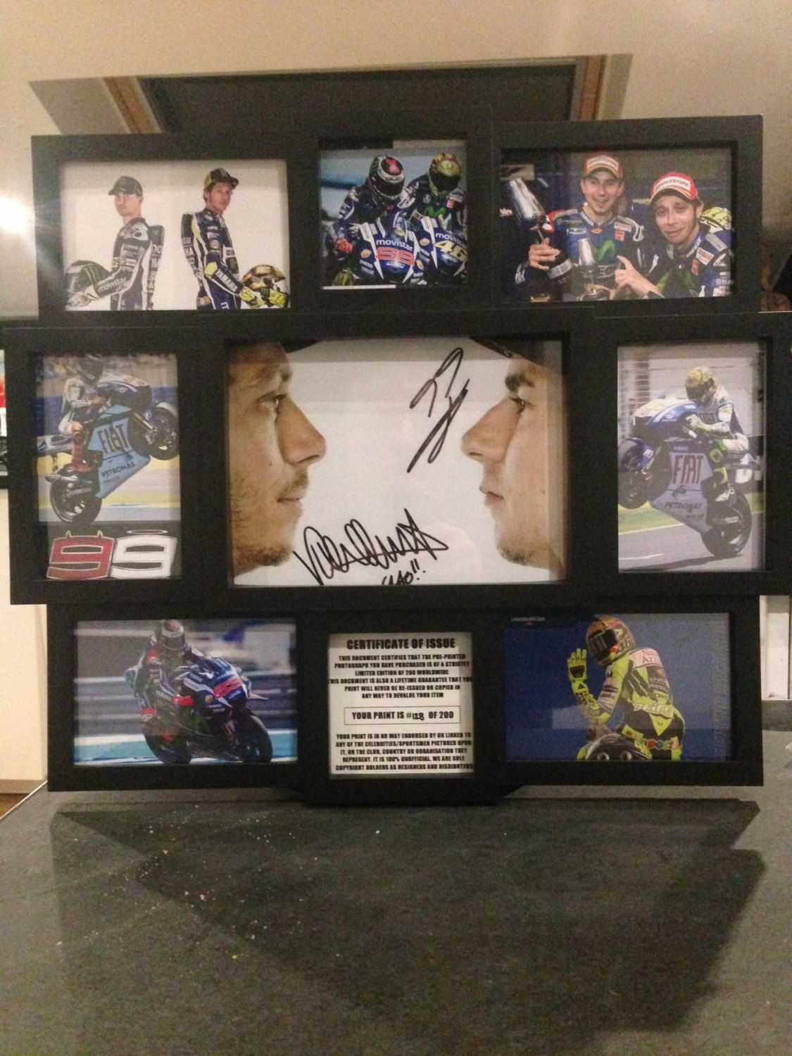 Valentino Rossi Jorge Lorenzo By Route66store On Etsy VR 46