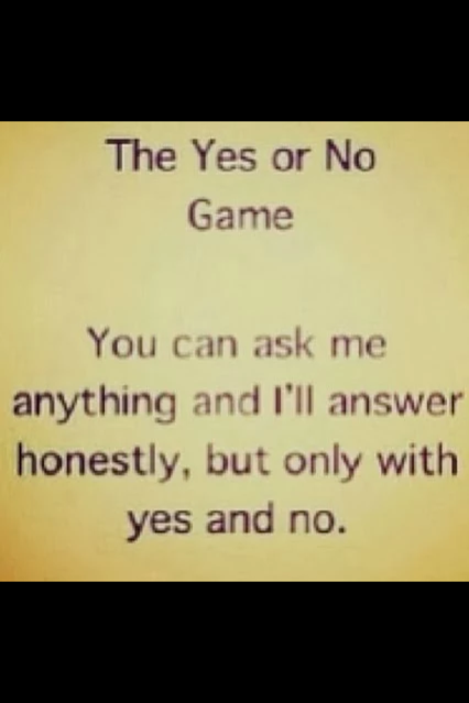 The Yes or NO game would be perfect to play with that one