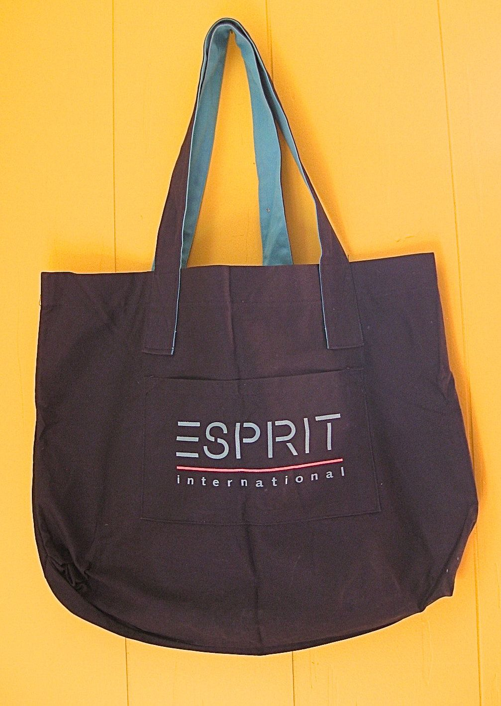 7a92b35962f8 Vintage 90s Esprit Bag Canvas Tote Bag Large Cotton Esprit Bag ...