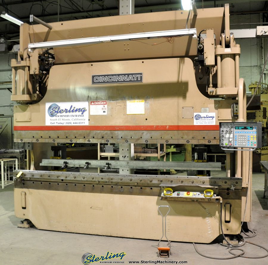 175 Ton X 12 Used Cincinnati 5 Axis Form Master Ii Cnc Hydraulic Press Brake With Extended Stroke Mdl 175 Fmii Hydraulic Press Brake Press Brake Hydraulic
