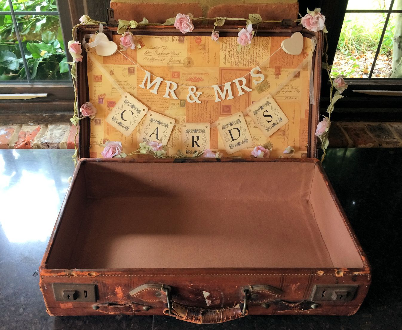 Vintage Wedding Card Suitcase Postbox | Wedding ideas | Pinterest ...