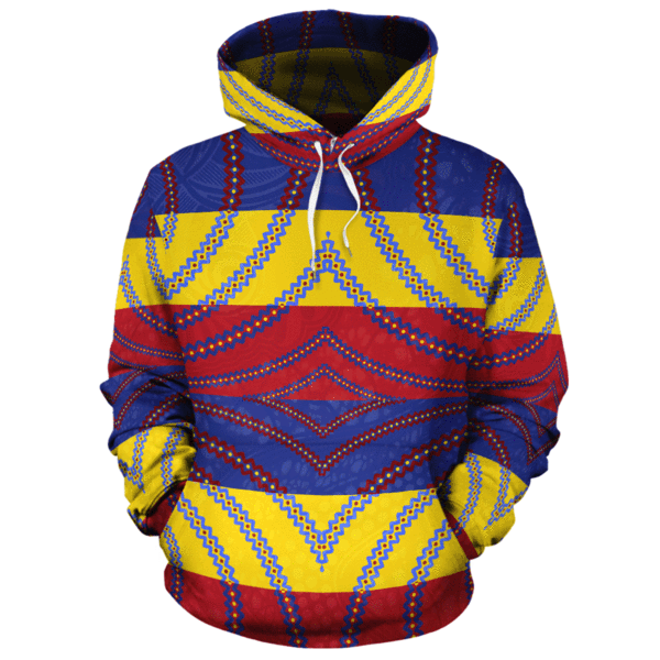 African Print All-over Hoodie